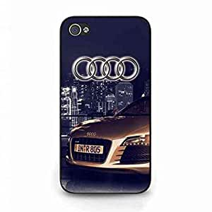Popular Audi Logo Funda,Audi Logo Iphone 4 Case,Audi Funda Black Hard Plastic Case Cover For Iphone 4