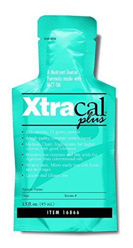 XtraCal Plus High Calorie Supplement, Unflavored 1 oz. Individual Packet Concentrate, 16866 – Case of 50