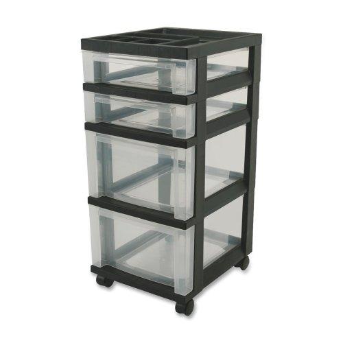Wholesale CASE of 5 - Iris Mini Clear Plastic Storage Cart-M