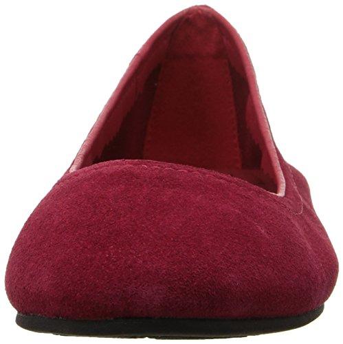 Crocs Linasuedeflat, Bailarinas para Mujer Rosso (Flame)