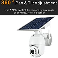 Outdoor Solar Security Camera Wireless Wi-Fi 1080P Full HD Rechargeable Battery Powered Motion Sensor Wireless Outdoor…