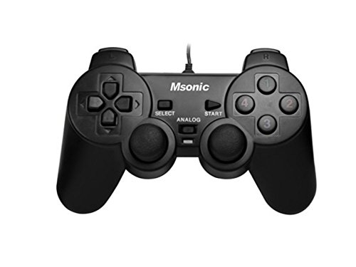 Msonic MN3329BK Gamepad mit Vibration-Funktion fü r PC und PS3