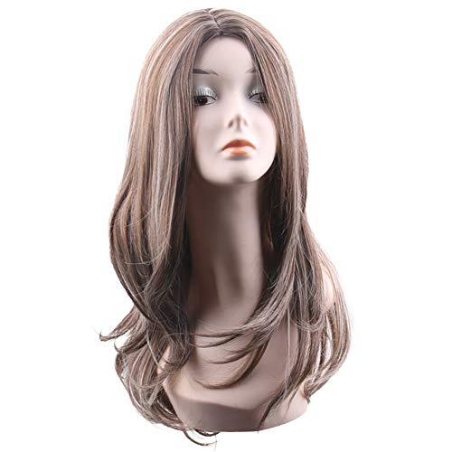 Wig Europe and America Middle Score Fashion Ms Hair Medium Length Curls Chemical Fiber -