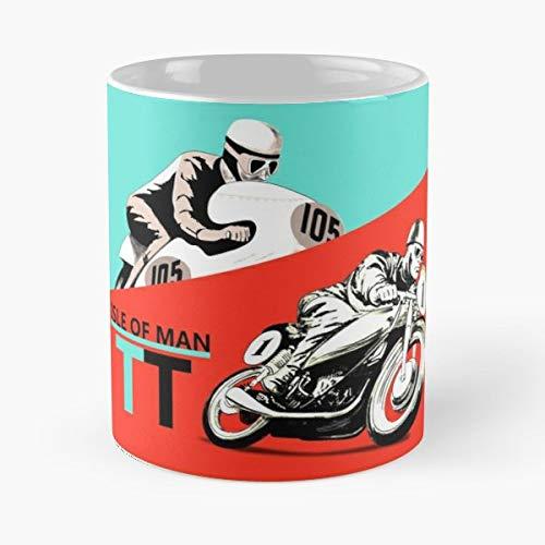 Motorcycle Vintage Iom Tt Tourist Trophy - Morning Coffee Mug Ceramic Novelty -