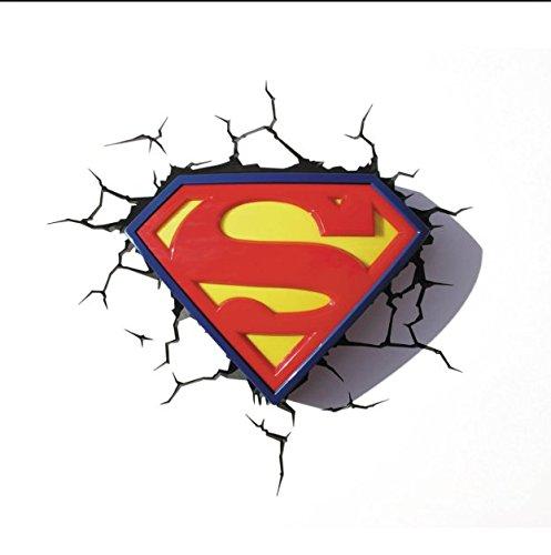 3DLightFX Super Man Logo Light - Superman Light Night