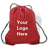 Promotional Drawstring Bag String-A-Sling Backpack- 15''w x 18''h flat bag- 200 Quantity - $1.80 Each -Promotional Products Bulk Custom Branded with YOUR LOGO for Free C2BPromo #C2BB0054-Burgundy