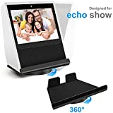 MOCREO Stand for Echo Show, Full Acrylic Holder for Amazon Echo Show 360 Degree Rotatable Acrylic Base Protector Accessories for Amazon Show with Precision Bearings, Black