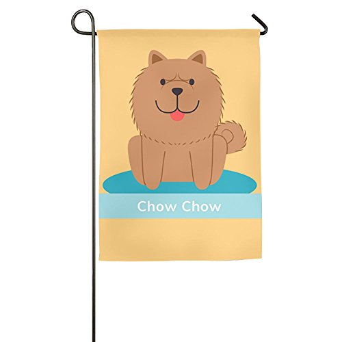 Hfjiaqismile Chow Chow Dog Home Flag Graphic Garden Flag Unique Outdoor Flags Cool Yard Flag (Chow Garden Flag)