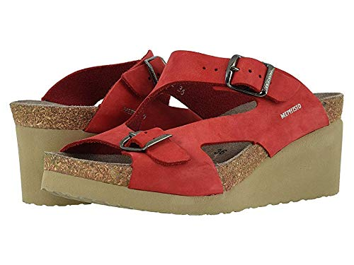 (Mephisto Women's Terie Red Nubuck 40 B EU)
