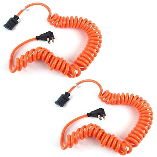 - Prime Ad010610 10' 16/3 Sjt Orange Coiled Power Tool Cord, 2 PACK
