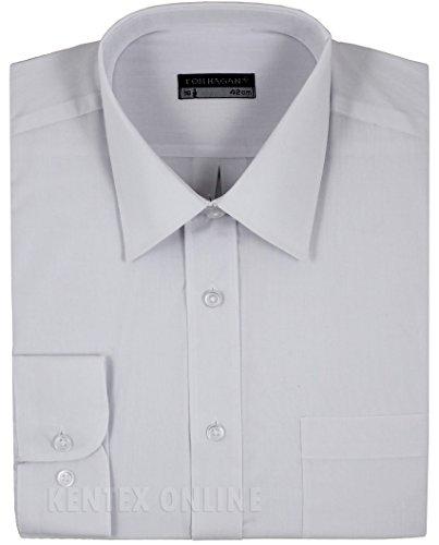 Tom Hagan Men's Formal Shirts Long Sleeve Plain 16 (41) (Toms Wear Button Up Shirt)