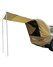 Trunk Tent, Car Travel Tent,Sunshade and Rainproof, Outdoor Self-Driving Trip Barbecue Camping Car Tail Extension Tent (4 Wind Ropes,4 Ground Nails,2 Iron Pipes)