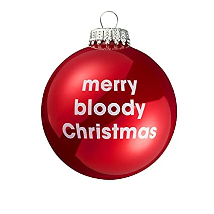 Bloody Christmas Tree.Merry Bloody Christmas Red Christmas Tree Bauble Amazon