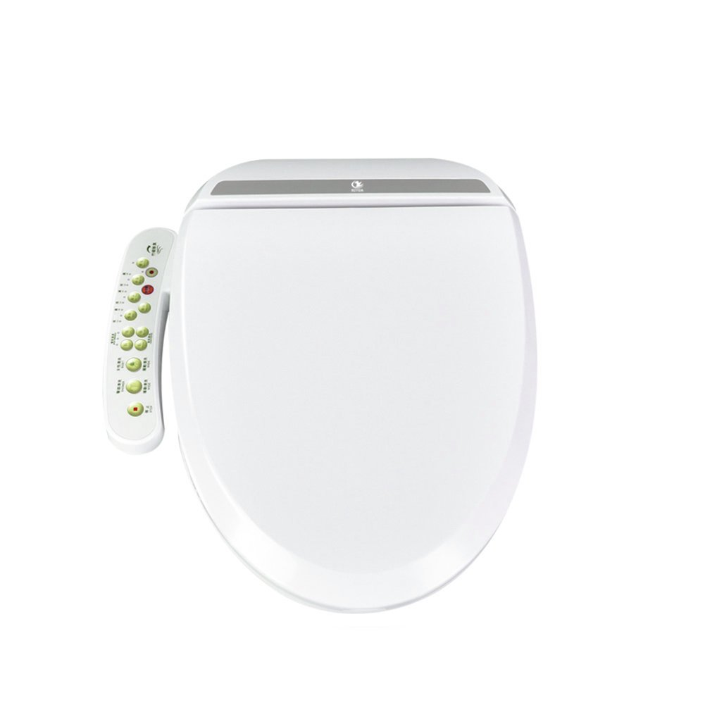 KOYIDA H02 Electric Bidet Toilet Seat Cotton White, Electronic Smart Heated Toilet Seat Cover, with Temperature Controlled Wash Functions Warm Air Dryer, Elongated 110V