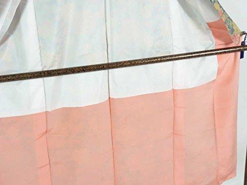 リサイクル紬 / 正絹黒地花柄袷紬着物 / レディース【裄Mサイズ】(中古紬着物 中古つむぎ リサイクル 紬 リサイクル着物 )【ランクC】