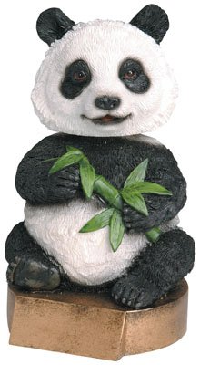 Trophy Crunch Panda Bobblehead Gag Gift - Free Custom Engraving Bamboo Bobble Head
