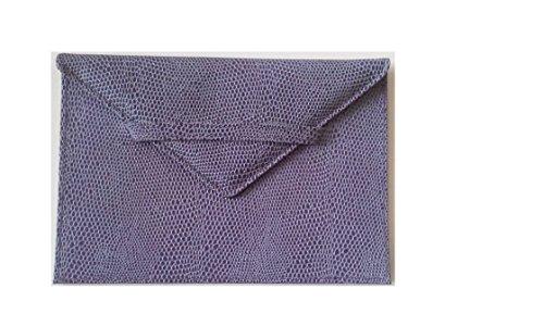 Madison Signature Photo Envelope Genuine Leather Lizard Print Holds 6
