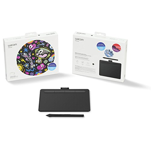 Wacom CTL4100 Intuos Graphics Drawing Tablet with 3 Bonus Software included, 7.9