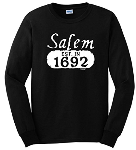 Salem Established in 1692 Long Sleeve T-Shirt 3XL Black ()
