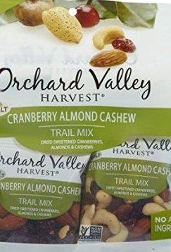 Orchard Valley Harvest Snack Packs   Cranberry Almond Cashew   15 Ct. Mix Multi Pack Trail Mix, Mixed Nuts, Non GMO Project Verified, No Artificial Ingredients, 15 ounces (15 Individual Packs) ()
