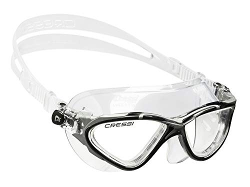 Cressi Planet, clear-black/silver, clear lens