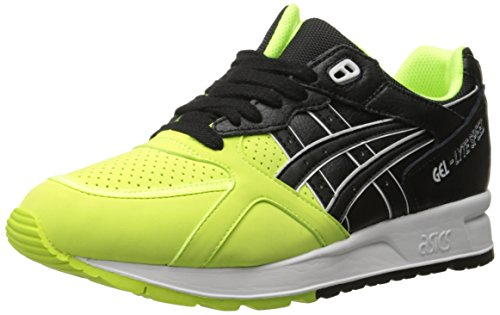 ASICS GEL Lyte Speed Retro Running Shoe, Safety Yellow/Black, 8 M US