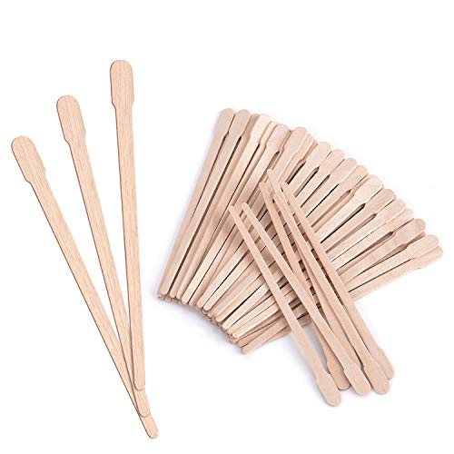 Mibly Wooden Wax Sticks 200 Pack - Eyebrow, Lip, Nose Small Waxing Applicator Sticks for Hair Removal and Smooth Skin - Spa and Home Usage