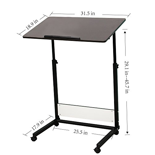 Unicoo Adjustable Laptop Cart Computer Table Drafting