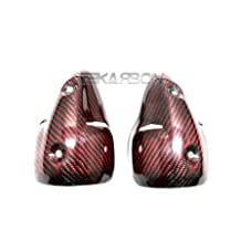 2008 - 2010 Ducati Monster 696 Carbon Fiber Exhaust Cover - Red Edition