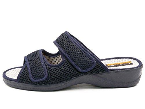 Talón 21741 Zapatilla Velcros Doctor Abierta Marino Color Mujer Dos Marca y 1126 Azul CUTILLAS Cierre Azul Orzq7Oxw