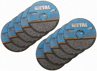 "4-1/2"" Cut-off Wheels for Metal, Pack of 10, for Cutting All Ferrous Metals and Stainless Steel"