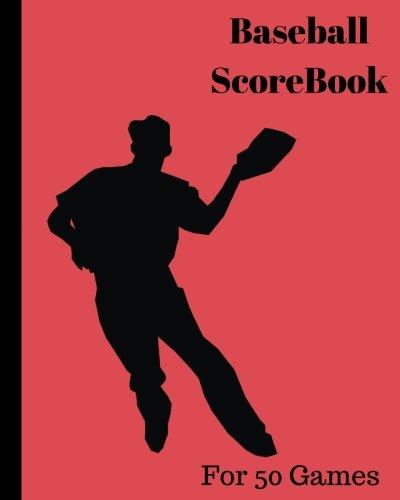 Read Online Baseball ScoreBook: 50 games, 8in x 10in, Included most popular stats, Pitching Jiugingge (Volume 8) ebook