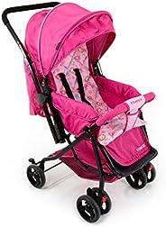 Carrinho de Bebê Happy - Rosa