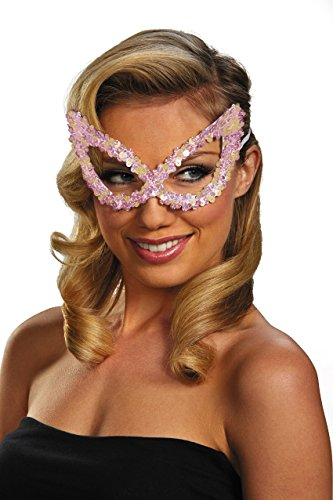 Disguise Pearlescent White Sequin Harlequin Eye Mask