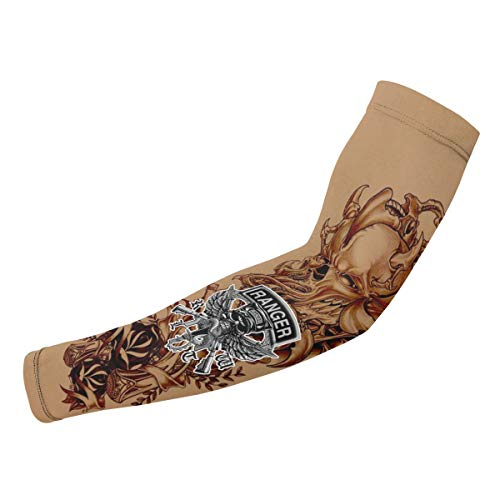 Army Ranger Tattoo (US Army Rangers Logo Temporary Tattoo Sleeves Compression Arm)