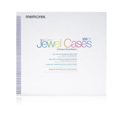 Memorex Slim Clear CD/DVD 5mm 100-Pack Jewel Cases