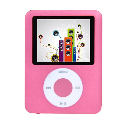 TTnight 1.8inch 8GB Slim LCD MP4 MP3 Player Media Video Game Movie FM Radio Voice with Earphone (Pink) by TTnight