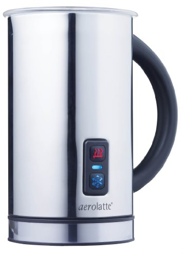 (aerolatte Compact Automatic Hot or Cold Milk Frother and Cappuccino Foam Maker, Stainless Steel, 11.5-Ounce)