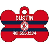 MLB Team Dog Tag Pet Id Tag Personalized w/ Name & Number (Boston Red Sox)