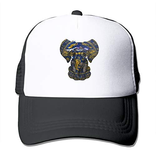 Nebraska Flag NE Classic Trucker Hat Adjustable Baseball Cap for Men and Women Black]()