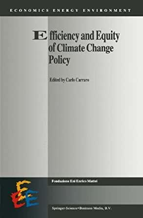 Efficiency and Equity of Climate Change Policy (Economics