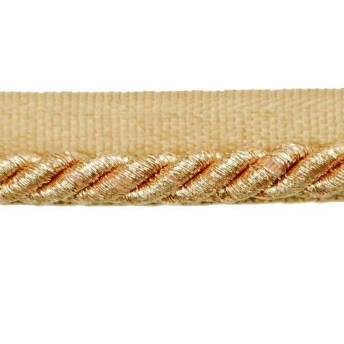Expo International Gloria 1/4-Inch Metallic Twisted Lip Cord Trim, 20-Yard, Metallic Gold