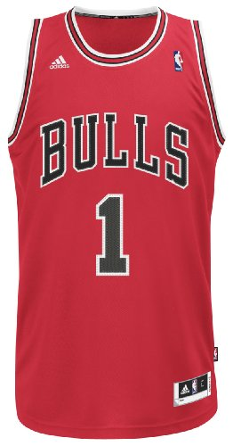 NBA Chicago Bulls Derrick Rose Swingman Jersey, Red, Small