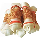 """Pawant Dog Treats Puppy Training Snacks Promotes Healthy Chewing Chicken Wrapped Knot 4.5"""" 0.5lb"""
