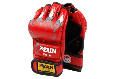 Half Finger Boxing Gloves Sanda Fists Fighting - Per Pair - Red