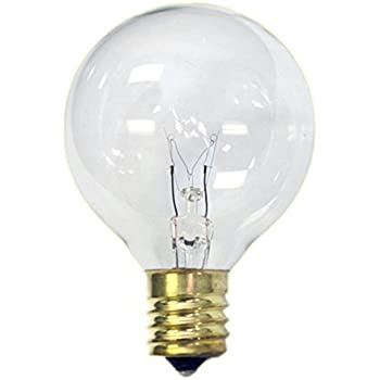 Replacement Globe Light Bulb G50 7w 130v E12 Base