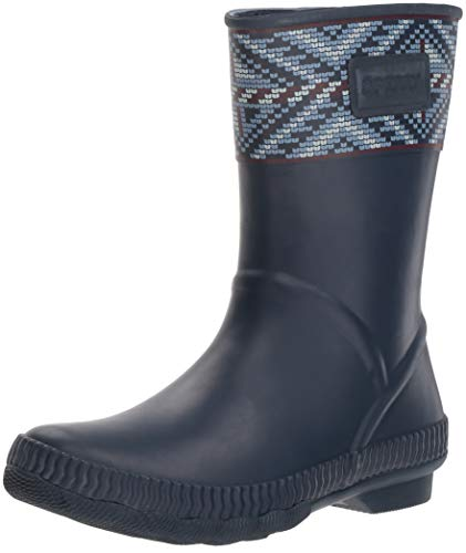 (SPERRY Women's Saltwater Current Rain Boot, Navy Multi, 7 M US)