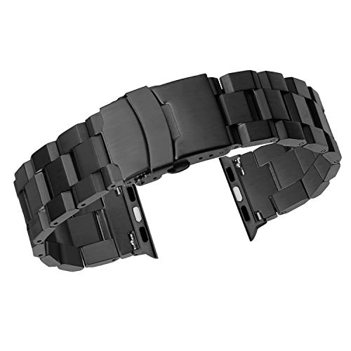 Bands Replacement for Apple Watch Bands 42mm Men Metal Iwatch 1 2 3 4 Bands Matte Stainless Steel Unique Designer's Heavy Duty Bracelet 38mm ()