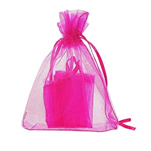 BEESCLOVER 25pcs 9x12cm Organza Jewelry Gift Pouch Bags Wedding Favor as Picture Show One Size