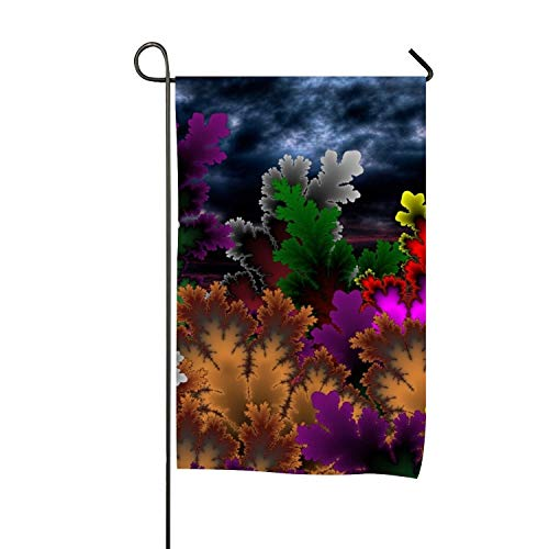 Welcome Abstract Colorful Leaves Garden Flag Double-Sided, Yard Flag to Brighten Up Your Home (Jeremiah Autumn Leaf)